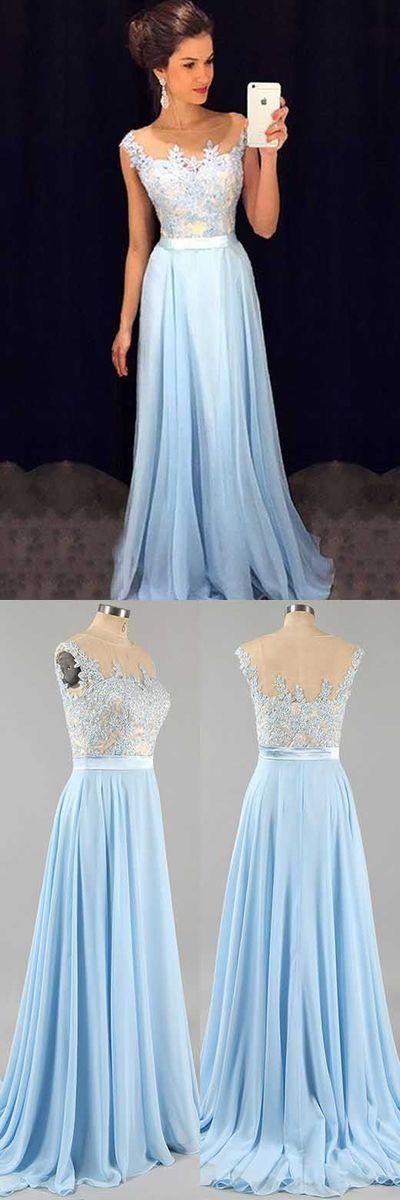 Fashion Appliqued Chiffon Long Prom Dress ,Popular Wedding Party Dress,Long Evening Dress PDT051