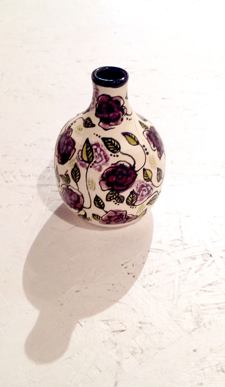 29 best may be yours images on pinterest artist artists and gorgeous miniature ceramic vase with purple flowers by alisha marie reviewsmspy