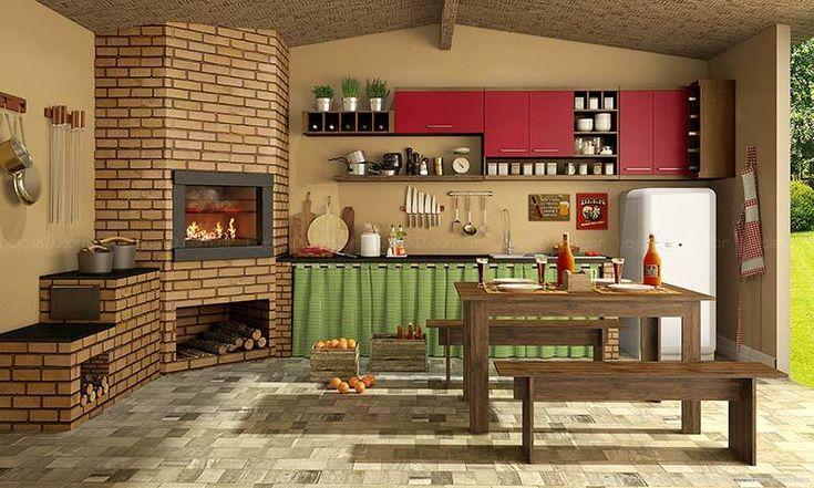 Varanda Gourmet rústica. Clique na imagem para saber mais.