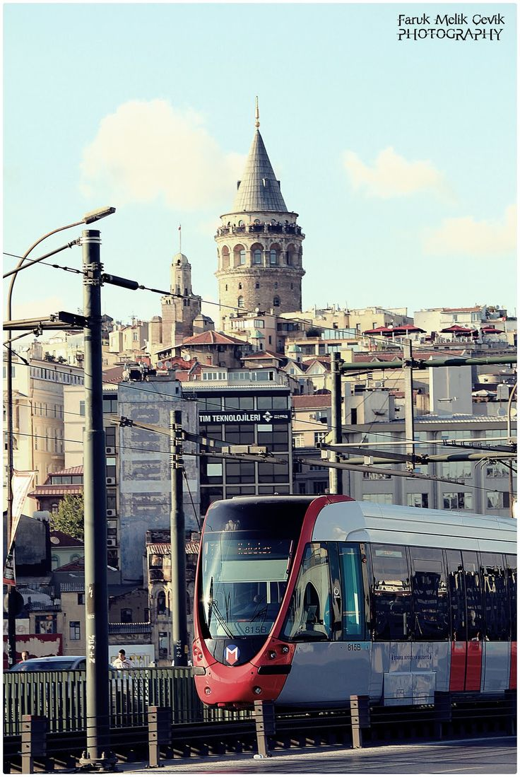Galeta Tower and modern train?: Istanbul
