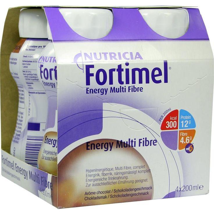 FORTIMEL Energy Multi Fibre Schokoladengeschmack:   Packungsinhalt: 4X200 ml Flüssigkeit PZN: 01125229 Hersteller: MCM KLOSTERFRAU Vertr.…