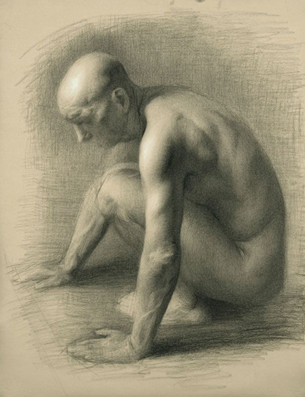 """Alan"" Charcoal on Paper, 24""x18"" by artist Juliette Aristides"