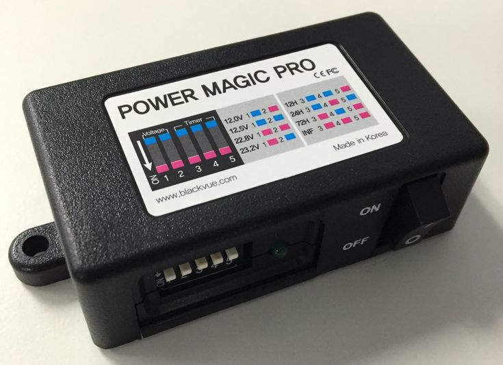What is a Power Magic Pro?    BlackVue's Power Magic PRO Battery Discharge Prevention Module is a smart device which will safely supply power to your dash cam while your vehicle engine is turned off. The Power Magic Pro was designed to monitor your car battery voltage and will turn the camera off if the car battery reaches the time or voltage threshold that you have specified.