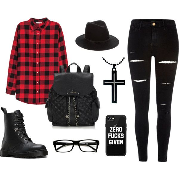 ZERO F*CKS GIVEN by taurahell on Polyvore featuring H&M, River Island, Dr. Martens, Lipsy, rag & bone, Casetify and ZeroUV