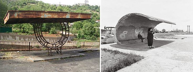 bus stop shelters can be seen in Armenia: