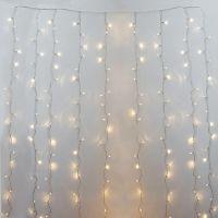 Rideau de 600 lumières led blanc chaud, fil clair int./ext.