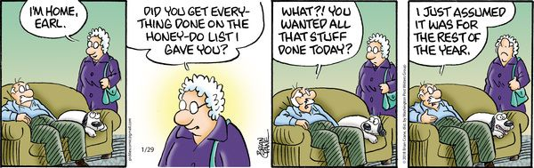 Honey Do List Pickles For 1 29 2018 Pickles Comic Strips Cute Quotes