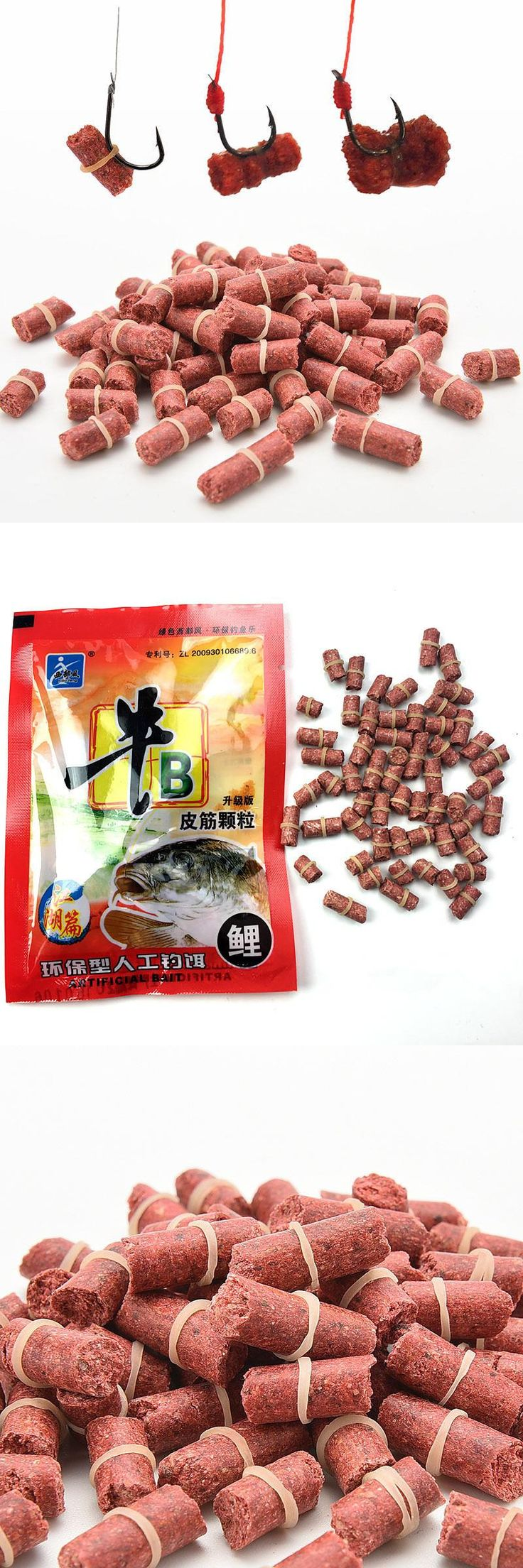 [Visit to Buy] 55PC/PACK Swimbait Fishing Food Red Carp Smell Lures Soft Artificial Baits Peche with Elastic Wobbler Carp Tackle Spinner Gear #Advertisement