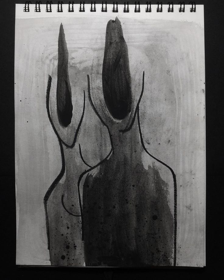 Doppio  #lucabraidottipaint #gouache #black #instaart #drawing #abstract