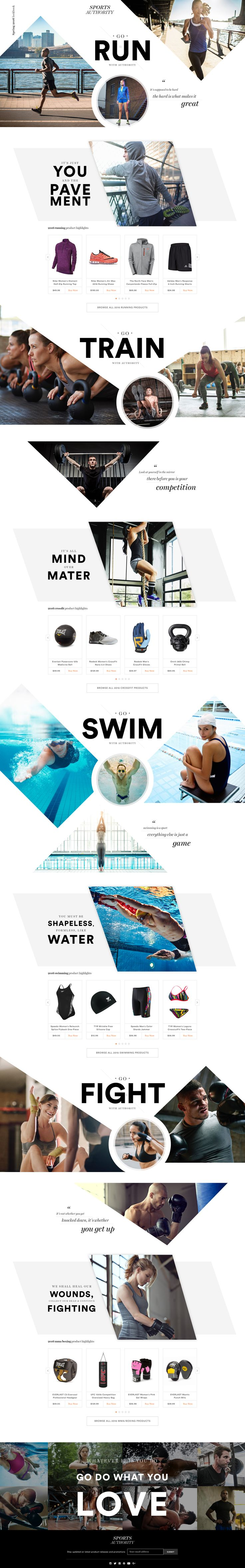 Web design | Sports authority lookbook2016 jason kirtley 1x | creative | inspiration | web