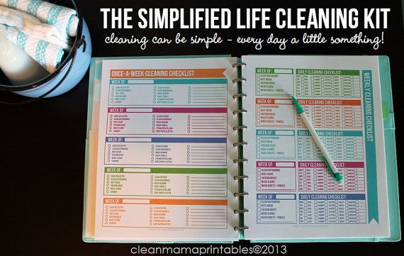 Everything you need to track all the cleaning in your home - The Simplified Life CLEANING Kit by CleanMamaPrintables