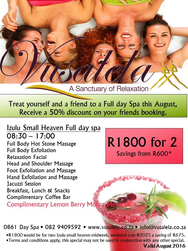 This amazing special is valid for the whole of August!! Spoil yourself, you deserve it!