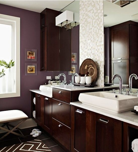 Love THIS shade of purple for bathroom