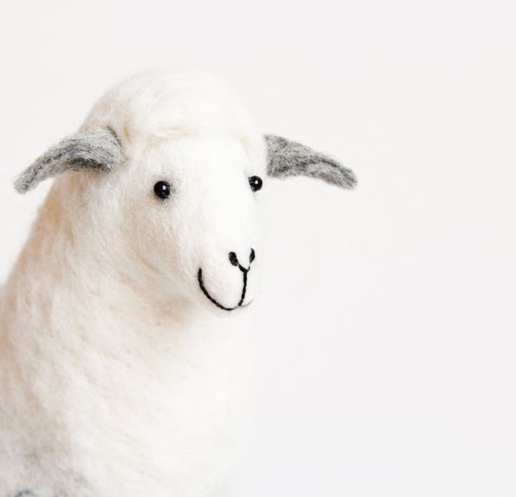 Anetta - Felt Sheep, Art Puppet, Handmade Marionette, Stuffed Animal, Felted Toy, silver  white soft neutral white grey. MADE TO ORDER by TwoSadDonkeys on Etsy https://www.etsy.com/listing/215304862/anetta-felt-sheep-art-puppet-handmade