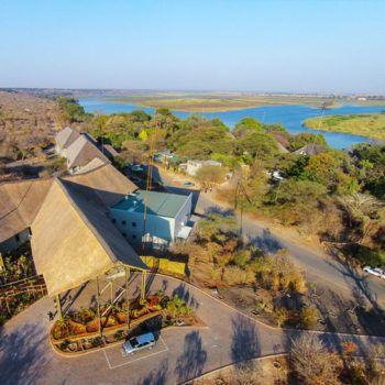 Chobe Bush Lodge Aerial