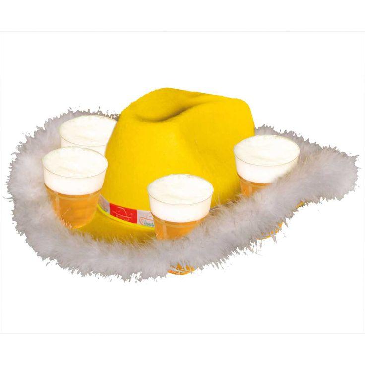 Gele Bier Hoed met Bontrand