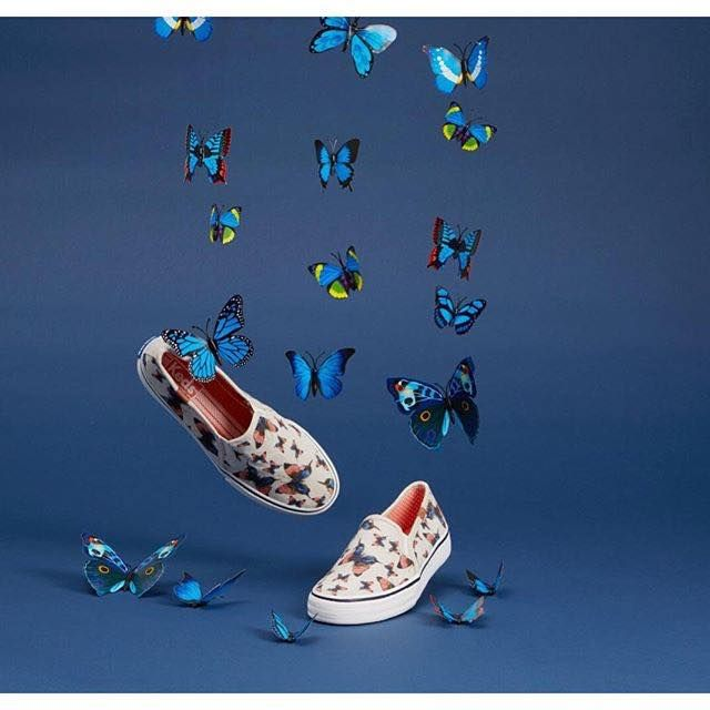 Butterflies in the stomach? You might as well have then on your new SS16 KEDS slip ons!