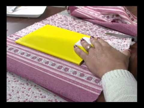 Mulher.com 30/07/2012 Claudia Niero - Forração de caderno com tecido 01