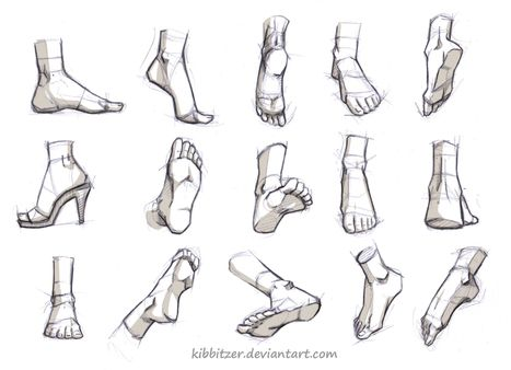 Dessin De Pied Humain feet drawing reference guide | drawing references and resources