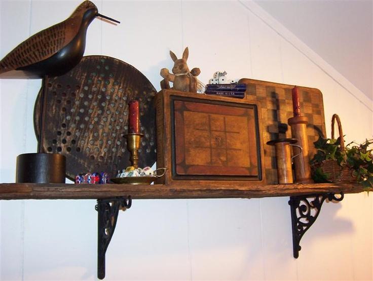 83 best images about pot shelf ideas on pinterest for Pot shelf decorating ideas