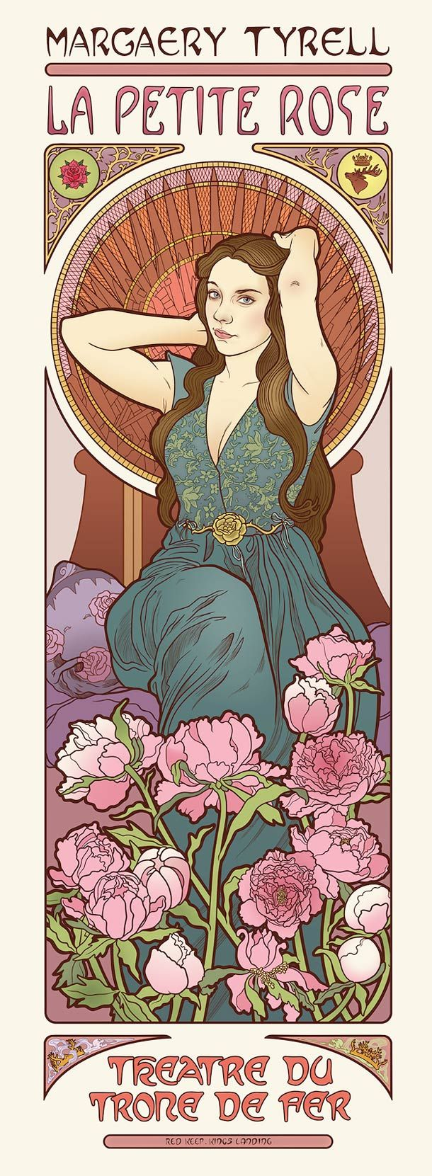 Girls of Game Of Thrones as Art Nouveau Goddesses @Christy Polek Polek Holthaus Geonetta
