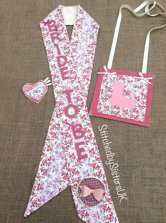 Bride to Be sash vintage hen party sash by StitchedbySistersuk