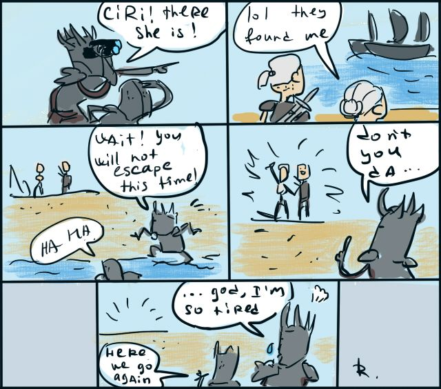The Witcher 3, doodles 3 by Ayej