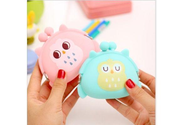 Creative Home Cute Candy Colored Owl Gel Zero Wallet, Cartoon Key Bag $6 USD #wish #onlineshopping #shoppingmadefun #fashion #gift #creativeliving #householdgoods #homedecor #home