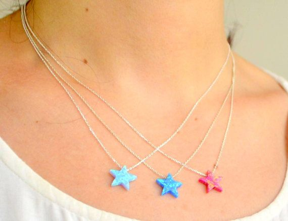 #OPAL STAR NECKLACE, blue star, #kaballah jewelry, pentagram necklace, #davids star, amulet jewelry, protection jewelry, 40% sale, luck pendant,