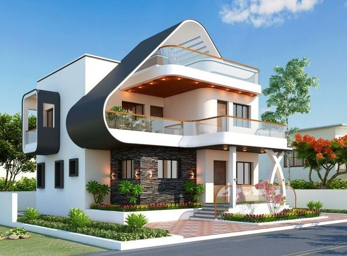 Resim Pinkhollydesigns Tarafindan Kesfedildi We Heart It De Kendi Gorsellerinizi Ve Videola In 2021 Facade House Modern Exterior House Designs House Designs Exterior