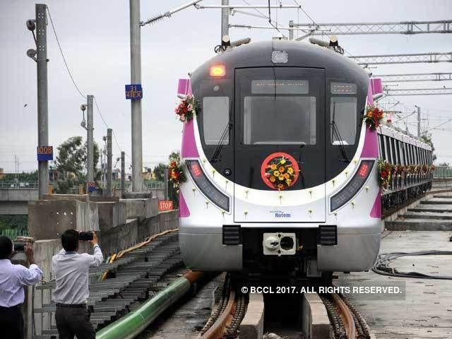 Delhi metro starts full signaling trials of driverless trains on Pink Line - The Economic Times on Mobile