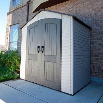 Store More Lifetime Plastic Storage Shed - 7ft x 4ft