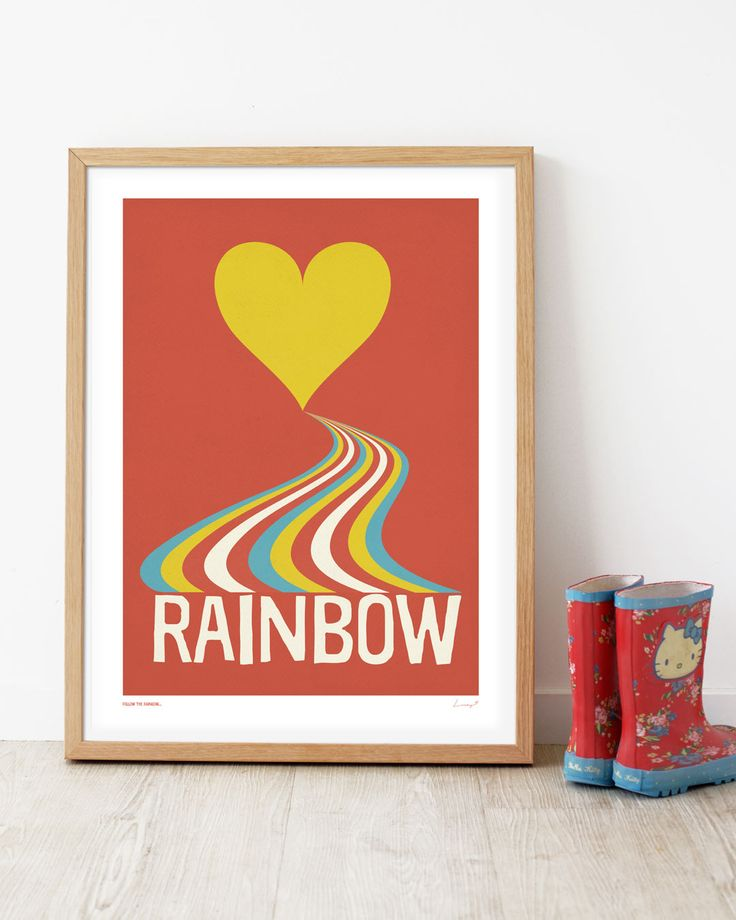 Rainbow print for sweet little girls from the 'Small Type' collection by Lucky 5 | prints and posters for the whole family