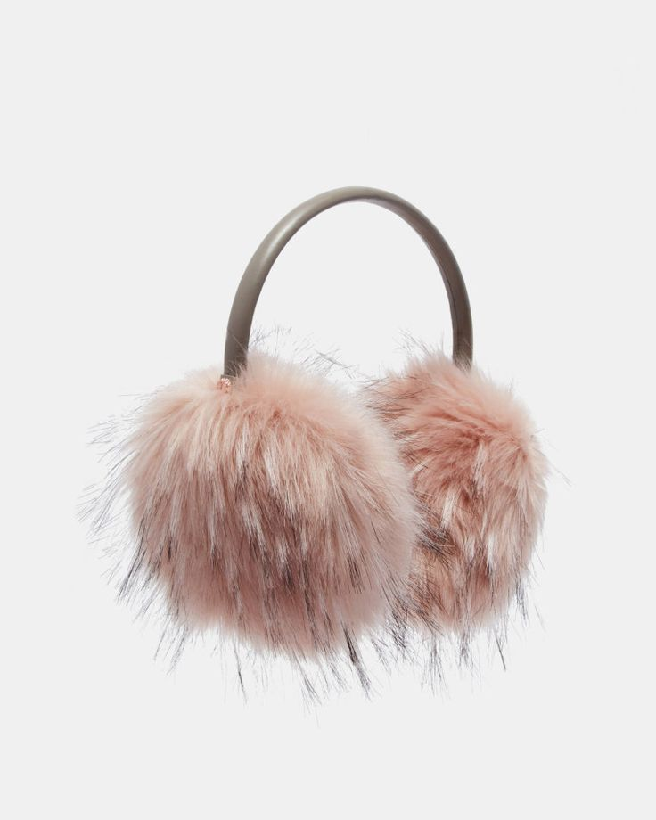 Faux fur ear muffs - Pink | Gifts For Her | Ted Baker UK