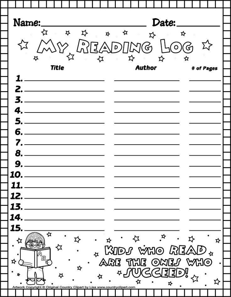 Beautiful Free Reading Log Template Photos - The Best Curriculum ...