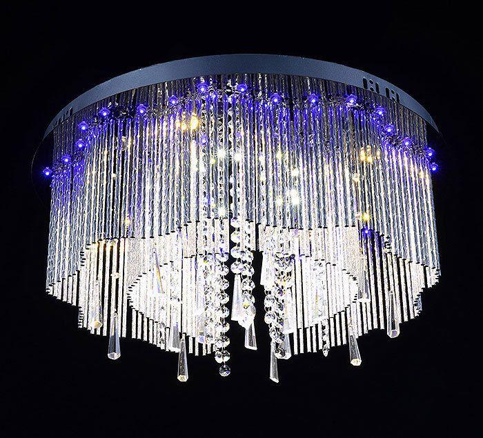 Serebrina Farbwechsel LED Kristall Deckenleuchte Deckenlampe Kronleuchter