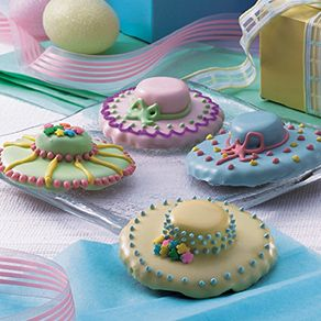 Easter Bonnet Cookies - Such pretty cookies!