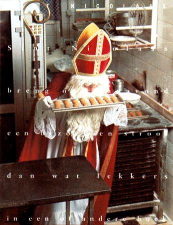 St. Nicholas baking cookies