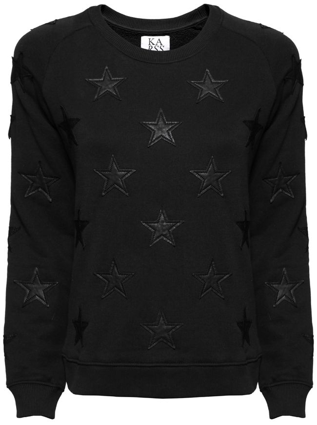 Stars All Over Sweatshirt - Black | ZOE KARSSEN | Designers | Available online at Shop-Label.com