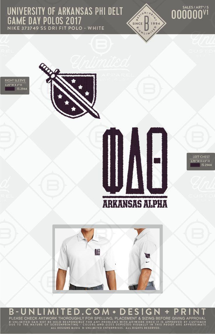 Phi Delta Theta Game Day Polos #BUonYOU #greek #greektshirts #greekshirts #fraternity #phideltatheta #gameday #polos #arkansas