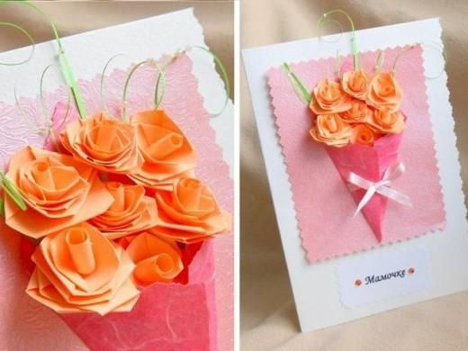 DIY Mother's Day Bouquet Card