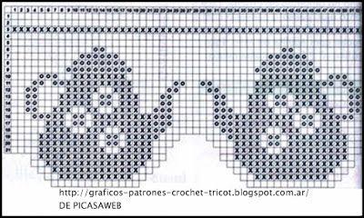 PATRONES - CROCHET - GANCHILLO - GRAFICOS: PUNTILLAS