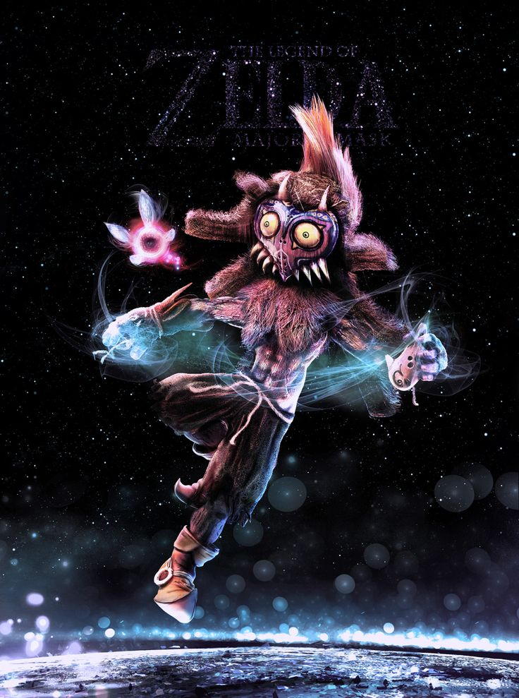 He's awsome  respect to the creator.  Legend of Zelda: Skull Kid - Created  by Carlos Garcia