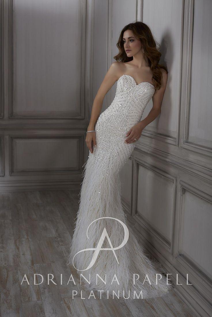 79 besten Adrianna Papell Platinum Bridal Gowns Bilder auf Pinterest
