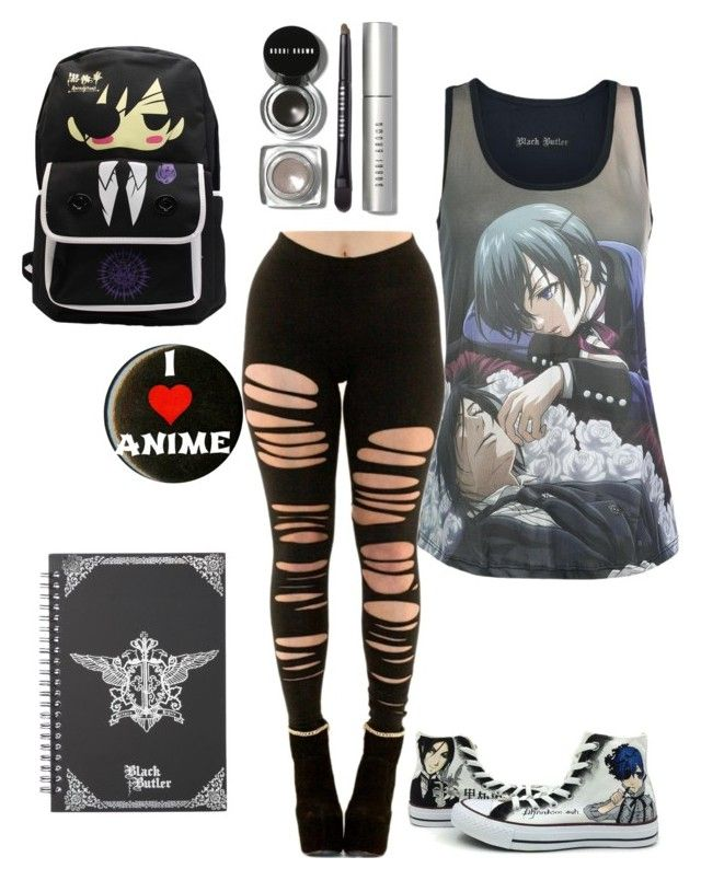 """Anime express black butler"" by animegirllover ❤ liked on Polyvore featuring Bobbi Brown Cosmetics and Converse"