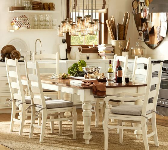 TABLE WITH Wynn Ladderback Chair | Pottery Barn