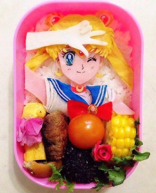 • bento sailor moon Food Art sailor moon bento anime bento sailor-moon-rei •