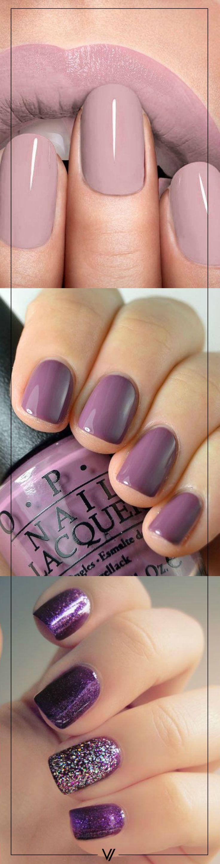 Uñas moradas para enamorar. #Nails #Uñas