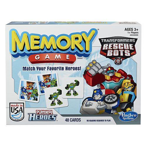 Hasbro Jeu de mémoire rescue bots Robots. 3+ ans. 17.99  Disponible en boutique ou sur notre catalogue en ligne. Livraison rapide au Québec.  Achetez-le info@laboiteasurprisesdenicolas.ca