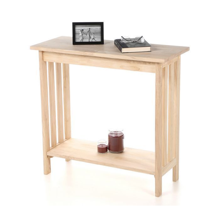 Unfinished Wood Mission Style Console Table Sofa Entry Hallway Furniture Decor #InternationalConcepts #Mission